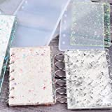 Note Book Cover Resin Mold, Tomorotec Clear Casting Epoxy Resin Molds Book Cover A6,A5,A7 with 36 PCS Book Rings and 4 PCS Bookmarks