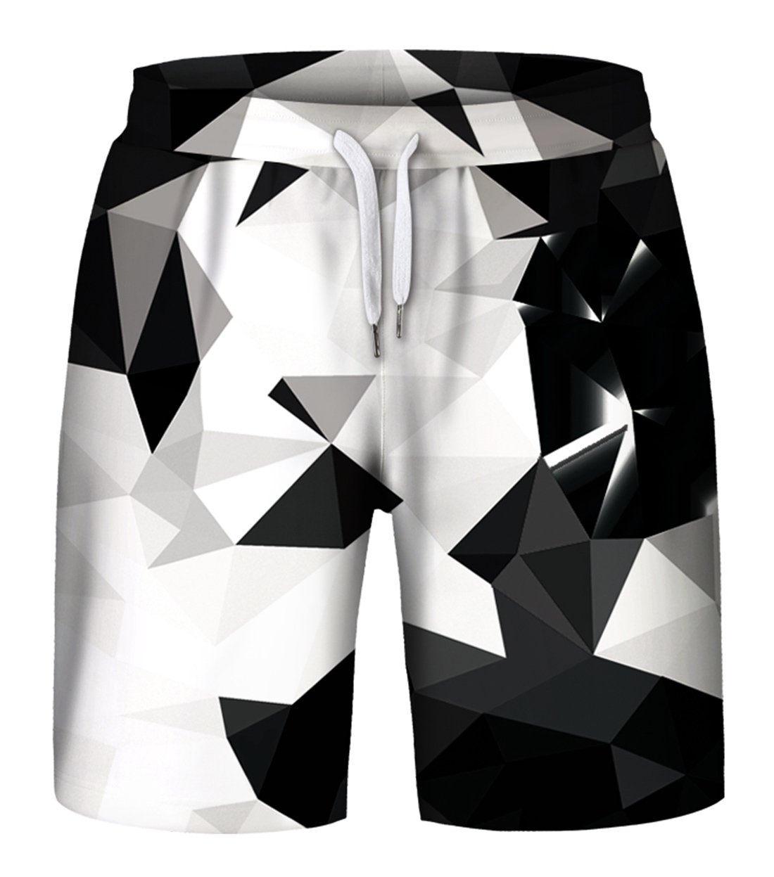 Aieoe Print Drawstring Summer Shorts Fashion Casual Board Shorts for Mens Workout Swim Gym Trips 2XL