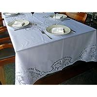 Toalha de Mesa de Fibra de Coco - Retangular - 10 Lugares - 160X300cm (Branco)