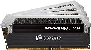 CORSAIR Dominator Platinum 16GB (4x4GB) DDR4 2666MHz C16 Desktop Memory