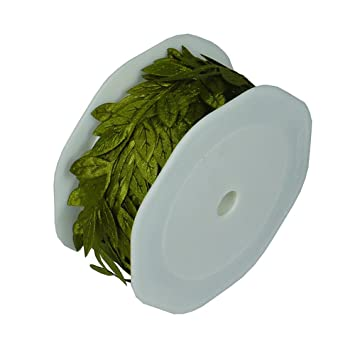 Leaf Ribbon Polyester Centerpiece Gift Wrapping Packaging Crafts Ideas 10  Yard Roll (Moss)