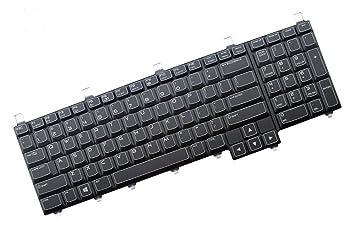 FEBNISCTE portátil de repuesto con retroiluminación teclado para Dell Alienware M17 X R3 R4, ...