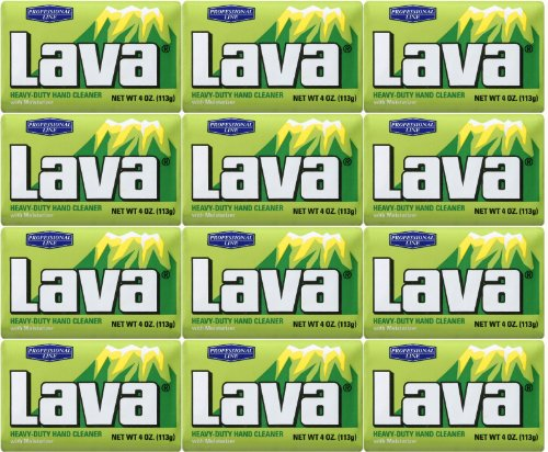 Lava 10383 Heavy-Duty Hand Cleaner with Moisturizers, 4 oz. (Pack of 12) by Lava