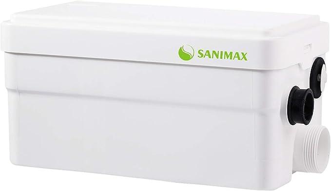 Pompe de relevage Douche /équip/ée de Deux entr/ées Sanigo SANI-S250C Broyeur sanitaire Pompe /à d/échets silencieuse