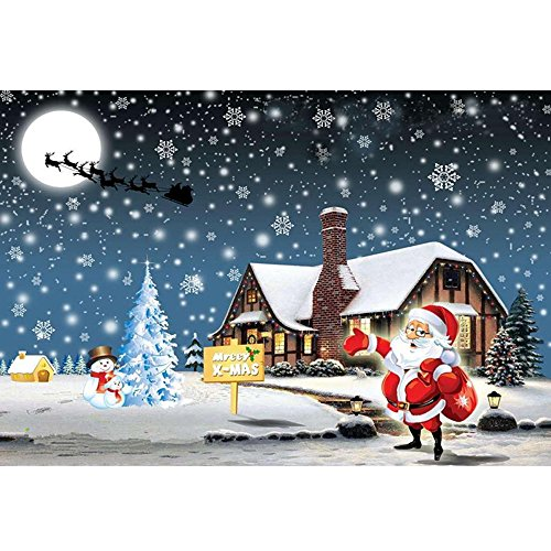 Promisen 5D DIY Christmas House Diamond Painting,Night Scene Embroidery Round Diamond Home Decor,Wall Stickers for Living Room Decoration (O) (22 Round Brilliant Diamonds)