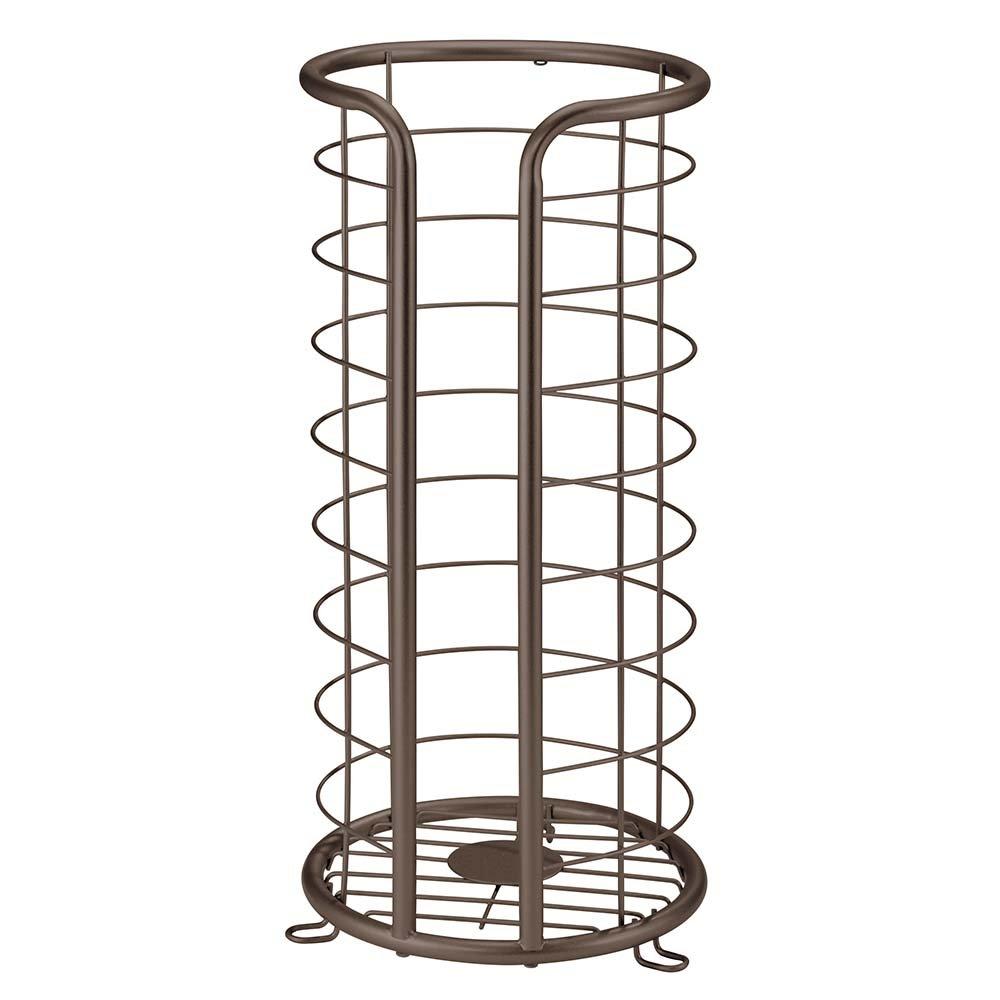 InterDesign Forma Free Standing Toilet Paper Holder - Spare Roll Storage for Bathroom, Bronze by InterDesign
