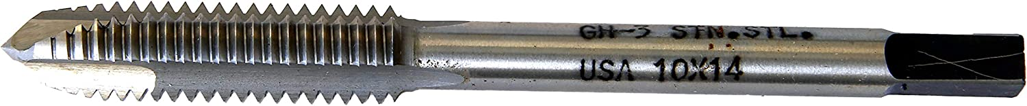 3 Flutes North American Tool 3//8-16 Spiral Point Plug Tap High Speed Steel GH3 Class of Fit
