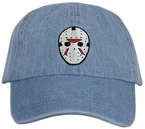 2f56e129a77 Mask Embroidered Friday the 13th Hat Baseball Cap Horror Jason Dad hat. by  jlgusa. Color  Red