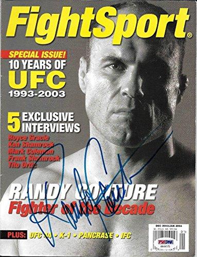 Randy Couture Signed Fight Sport 2003 2004 MMA Magazine COA UFC Auto'd - PSA/DNA Certified - Autographed UFC Magazines