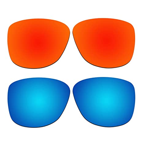 29a60774f7 Amazon.com   ACOMPATIBLE 2 Pair Replacement Polarized Lenses for Oakley  Reverie Sunglasses OO9362 Pack P2   Sports   Outdoors