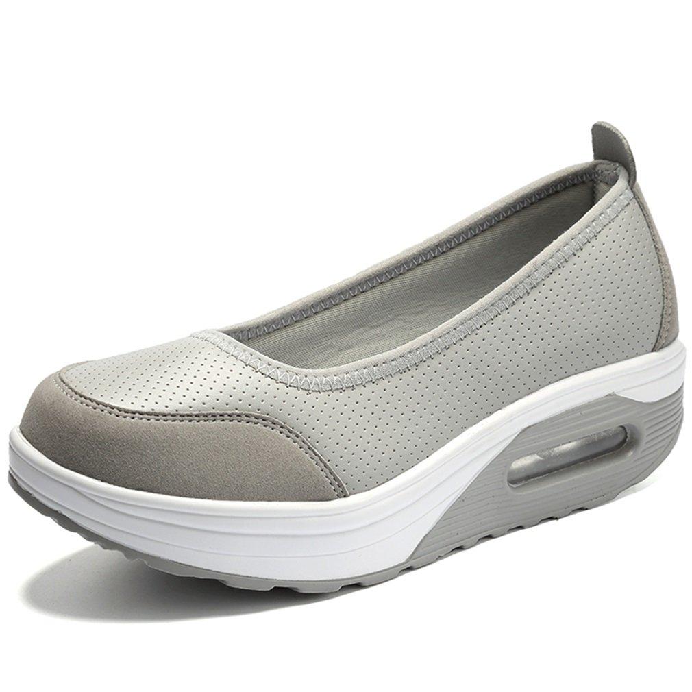 Zapatos de Mujer Primavera/Otoño Shake, Zapatillas de Deporte progresivas Gruesas y Transpirables, Zapatillas de Deporte para Correr Ocasionales, Zapatillas de Mujer, Zapatos Perezosos XiaoHe