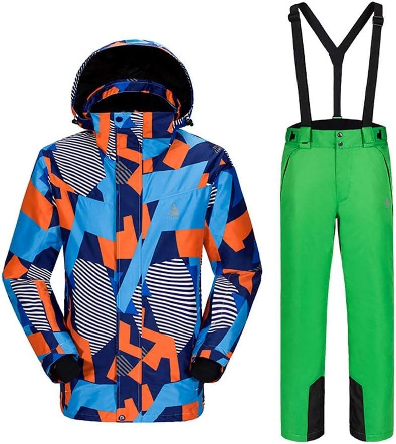 メンズスキーウェア アウトドアスキーウェアー帯電防止ウォームメンズスーツスノーシューズカモフラージュメンズスキースーツ スキー休暇用 (色 : C3, サイズ : M) C3 Medium