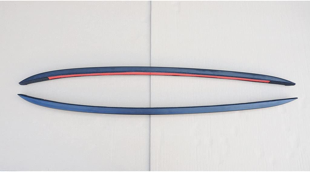 Liquor Car New for 2014-2020 Porsche Macan Black Roof Rail Rack Carrier Set Luggage Bar