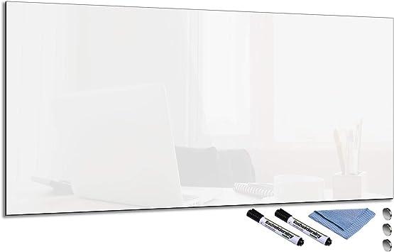 Glas-Magnettafel Grau 60x80 Pinnwand Wand mit Zubehör Whiteboard Küche Deko