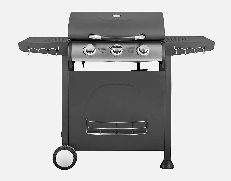Traedgard® Trio - Barbacoa de gas con 3 quemadores y 9 kW Potencia ...