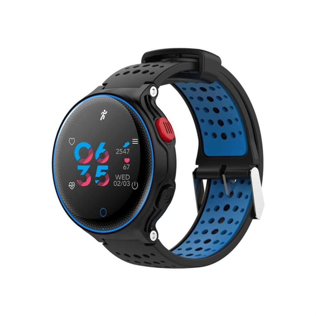 X2 Sports Smart Watch Heart Rate Blood Pressure Monitor Waterproof Bracelet by Sunfei (Blue)