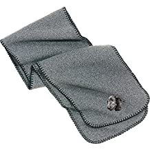 Cherrybrook Heather Gray Dog Breed Embroidered Lightweight Scarves (All Breeds)