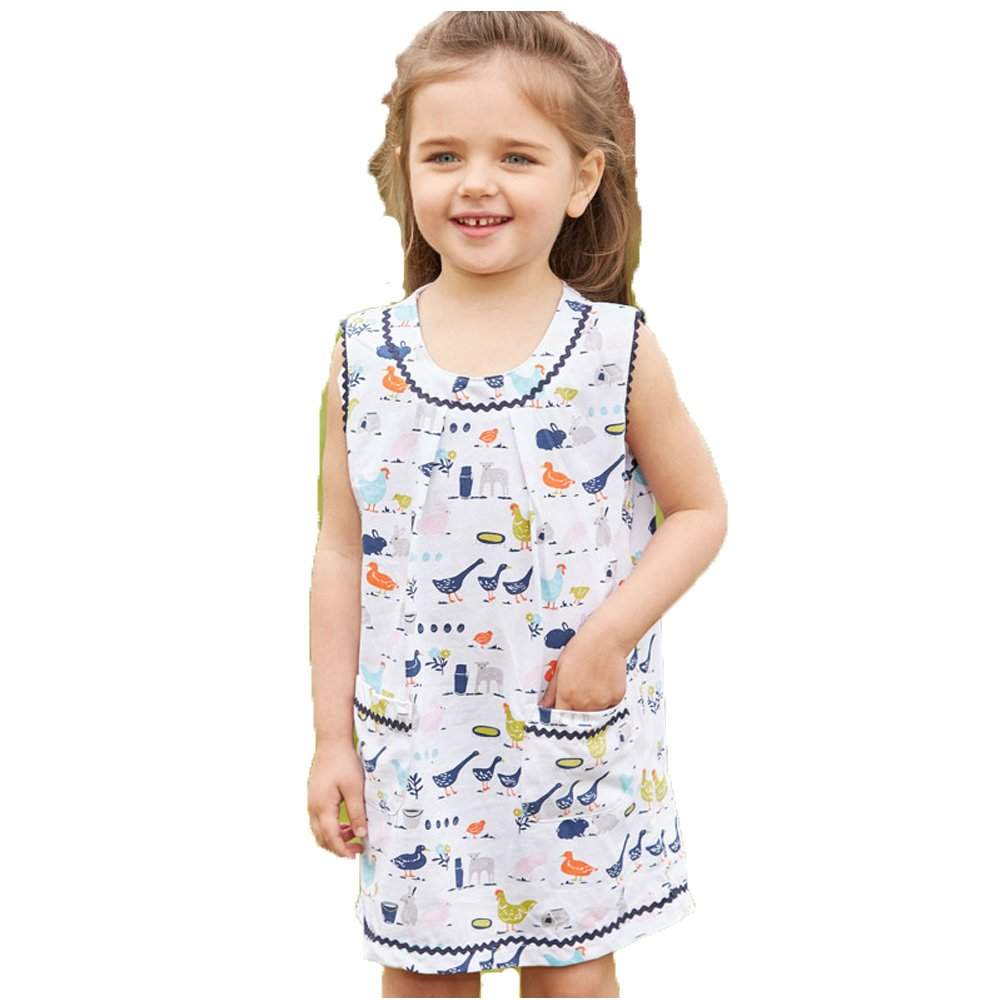 Bleubell Little Girls Farmyard Summer Party Tank Dress with Pocket 4T