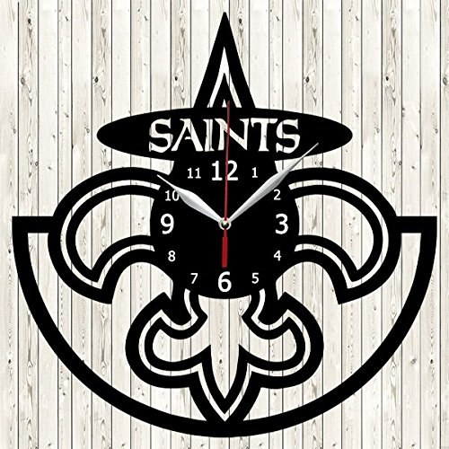 New Orleans Saints Vinyl Record Wall Clock Decor Handmade Unique Design Original Gift (Portrait Saints New Orleans)