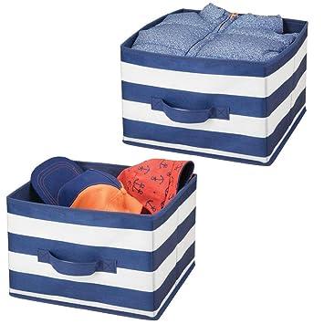 mDesign Juego de 2 cajas de almacenaje para ropa, juguetes, etc. – Organizadores