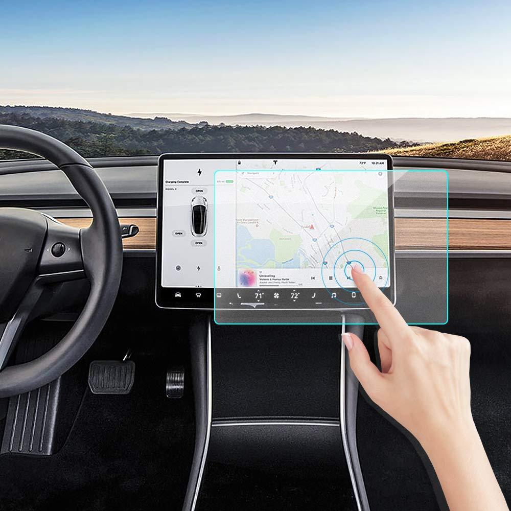 Tesla Model 3 Screen Protector, KIMILAR Matte Anti-Glare 15'' Center Control Touchscreen Car Navigation Touch Tempered Glass Screen Protector for Model 3 P50 P65 P80 P80D, 9H Hardness and Anti-Scratch by KIMILAR