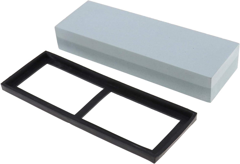 Wetzstein doppelseitiger Schleifstein wei/ßer Korund mit Anti-Rutsch-Werkzeug 1000-3000
