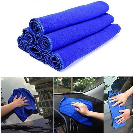 ICYANG - 6 Toallas de Limpieza de Microfibra absorbentes para el Coche, 30 x 30