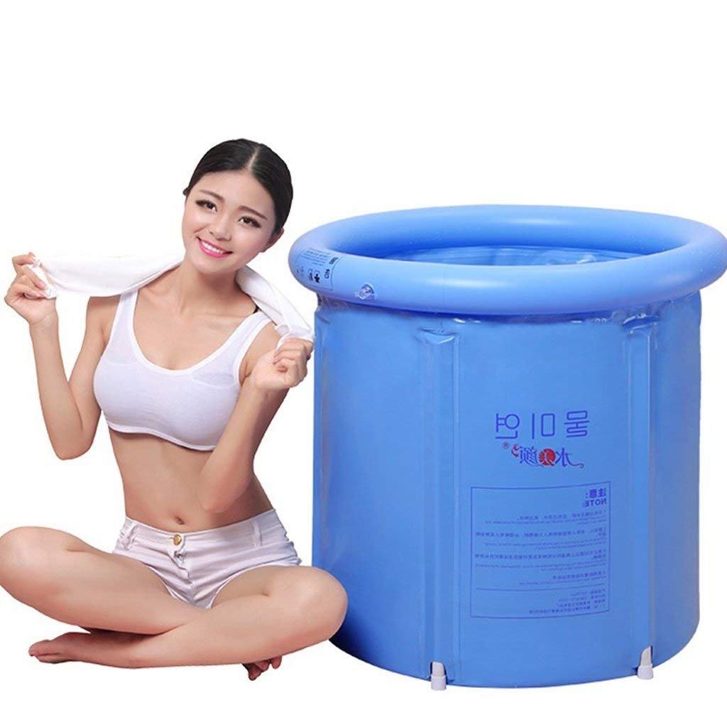 WW Bathtub Blue 75 * 75Cm Bathtub Portable Plastic Folding Bathtub Inflatable Bathtub