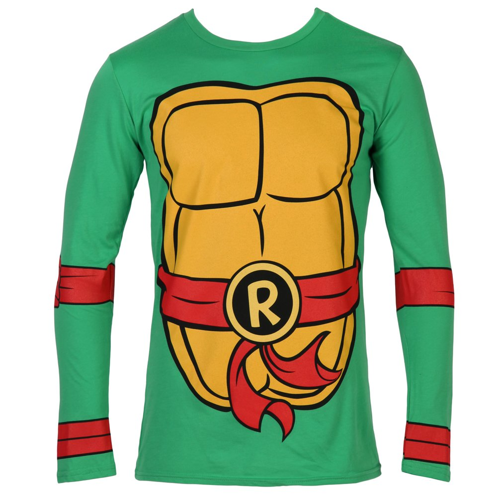 Teenage Mutant Ninja Turtles Raphael Costume Longsleeve Adult T-Shirt (XX-Large)