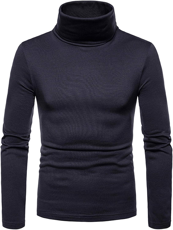 JOLIME Maglietta Uomo Manica Lunga Felpe Maglione Collo Alto T-Shirt Termica con Interno in Pile
