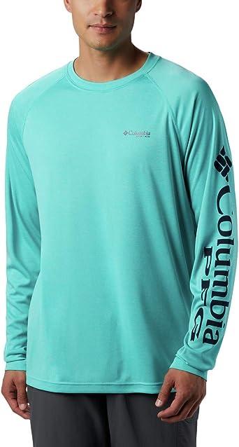 Columbia Mens Terminal Tackle Heather Long Sleeve Shirt