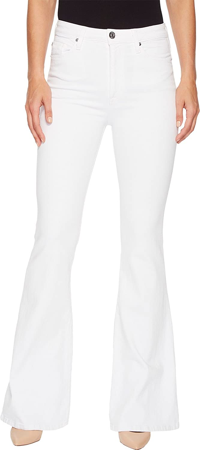 a9c7d07efb6 Amazon.com: HUDSON Women's Holly High-Rise Five-Pocket Flare Jeans in  Optical White Otpical White 25 34: Clothing