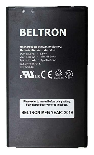 New BELTRON SCP-67LBPS 3240 mAh Replacement Battery for Kyocera Duraforce  Pro 1 E6800 E6810 E6820 E6830 E6833 (AT&T, Sprint, Verizon) SCP67LBPS
