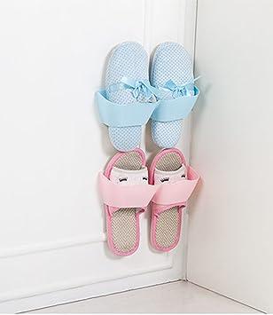 4pcs Zapatero para Puerta Colgar Puerta Estante de Pared Creativos Muebles Decoración Plástico Estantería de Zapatos: Amazon.es: Hogar