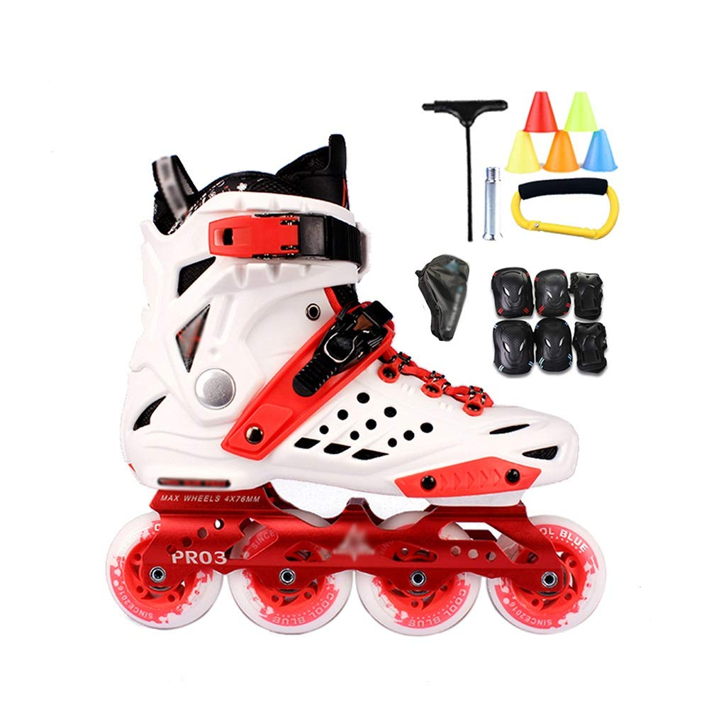 Gcxhlx Outdoor Teen Illuminating Wheels Inline Skates,Fun Flashing Women Recreational Inline Roller Skates,with Light Up Wheels Indoor Adult Racing Skates Gift for Beginner Men Ladies Male Youth
