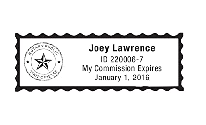 Notary Stamp for State of Texas- Self Inking Stamp, Customize Online
