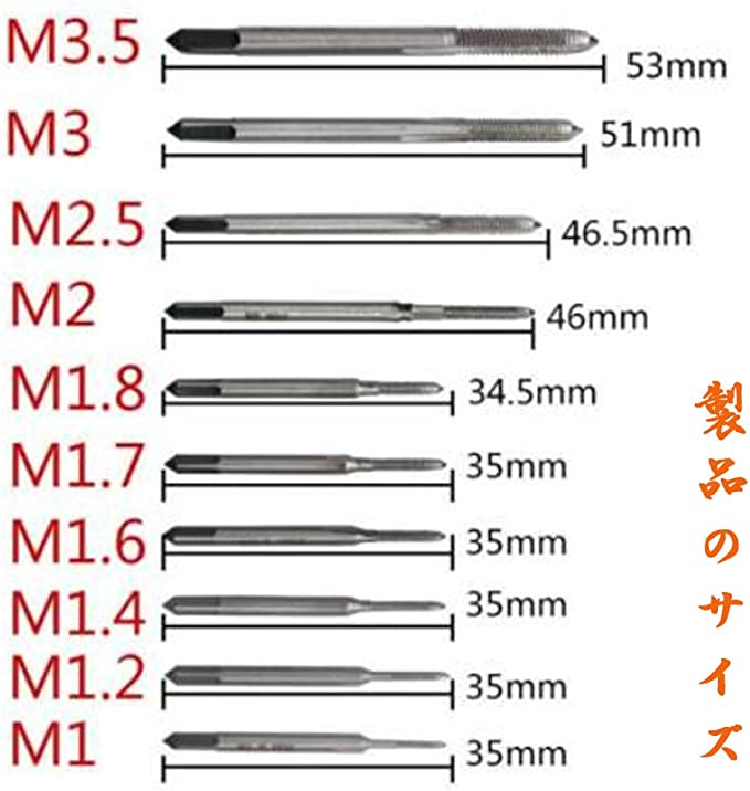 M3,M 3.5 M2 xuuyuu 10-piece set tapping screwing tap set screw hand tap machine hand tap thread wire tap drilling drilling threading M1 M2 M1.7 M1.4 M1.2 M2.5 M1.8 M1.6