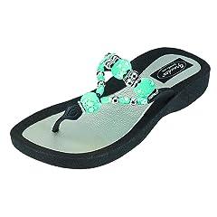 dba9adab4 Grandco Women s Triumph Thong Black Sandal 7 M US - Casual Women s Shoes