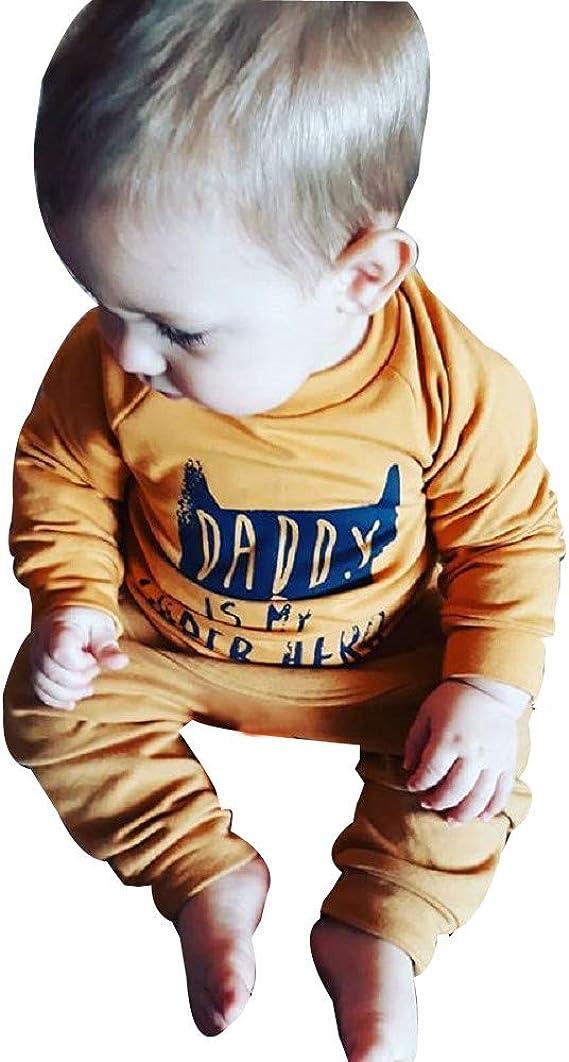 YanHoo Ropara niños Conjunto de Ropa para niños Camiseta de Manga Larga con Estampado de Dibujos Animados para bebés Camiseta Sudadera + pantalón Conjunto de Ropa: Amazon.es: Ropa y accesorios