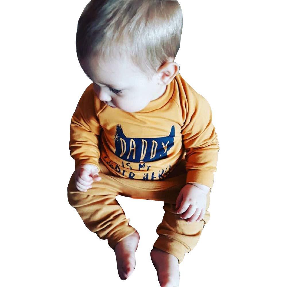 Pantaloni Vestiti Set Completino Bambino,Abbigliamento Neonato 2 Anni Bambino Maschio Autunno Vestito Battesimo Bambino 6 9 12 18 Mesi Bambino Ragazzi Ragazze Top Letter T-Shirt Pullover Felpa
