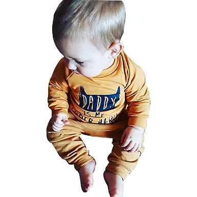 Ropa Bebe otoño Invierno 2018, Camisas Camiseta de Tops de Letras Sudadera Pullover bebé niños niñas + Pantalones Conjunto de Ropa