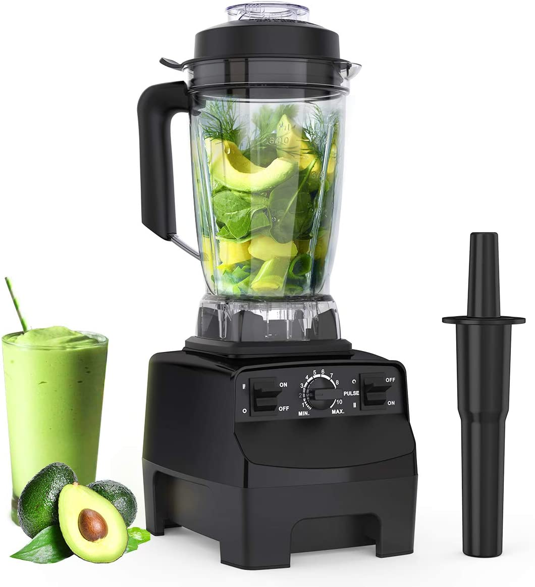 Homgeek, 1450W CACAGOO Countertop Blender for shakes and smoothies with 68 Oz BPA Free Tritan Container, Smoothie Blender Built-in Pulse for Kitchen, Crushing Ice, Frozen Dessert