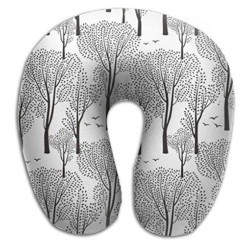 HGBAk U-shaped Pillow Neck Pillow Travel Neck Pillow Designer Neck Natural Pattern Forest Tree Birds Wild Animals Flowers U-shaped Neck Pillow Pillow Snooze Memory Pillow Cervical Pillow by HGBAk