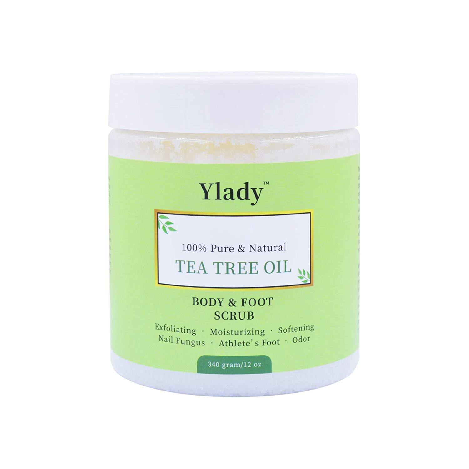Tea Tree Oil Scrub Soft Scrub Made With 100% Pure Tea Tree Oil And Mineral Salts Fight Acne,Warts,Corns Better for Body Odor,Athlete foot,Jock Itch,Callus Treatment by YLady