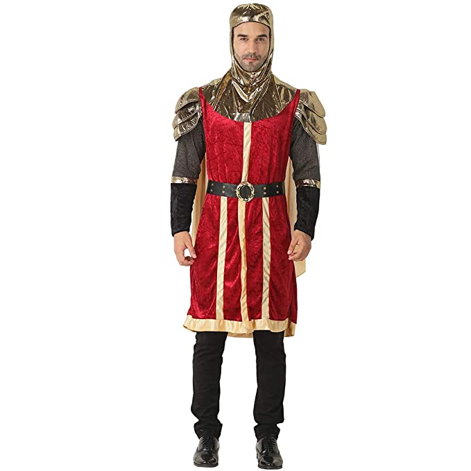 Couples Adults Mens /& Ladies Kings Knight Medieval Fancy Dress Costumes Outfits
