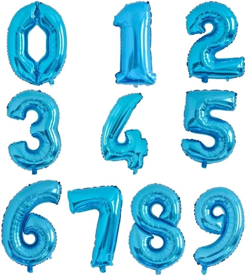 Numéro 0-9 ballons fête d/'anniversaire numéro Ballon pour Anniversaire Pâques par