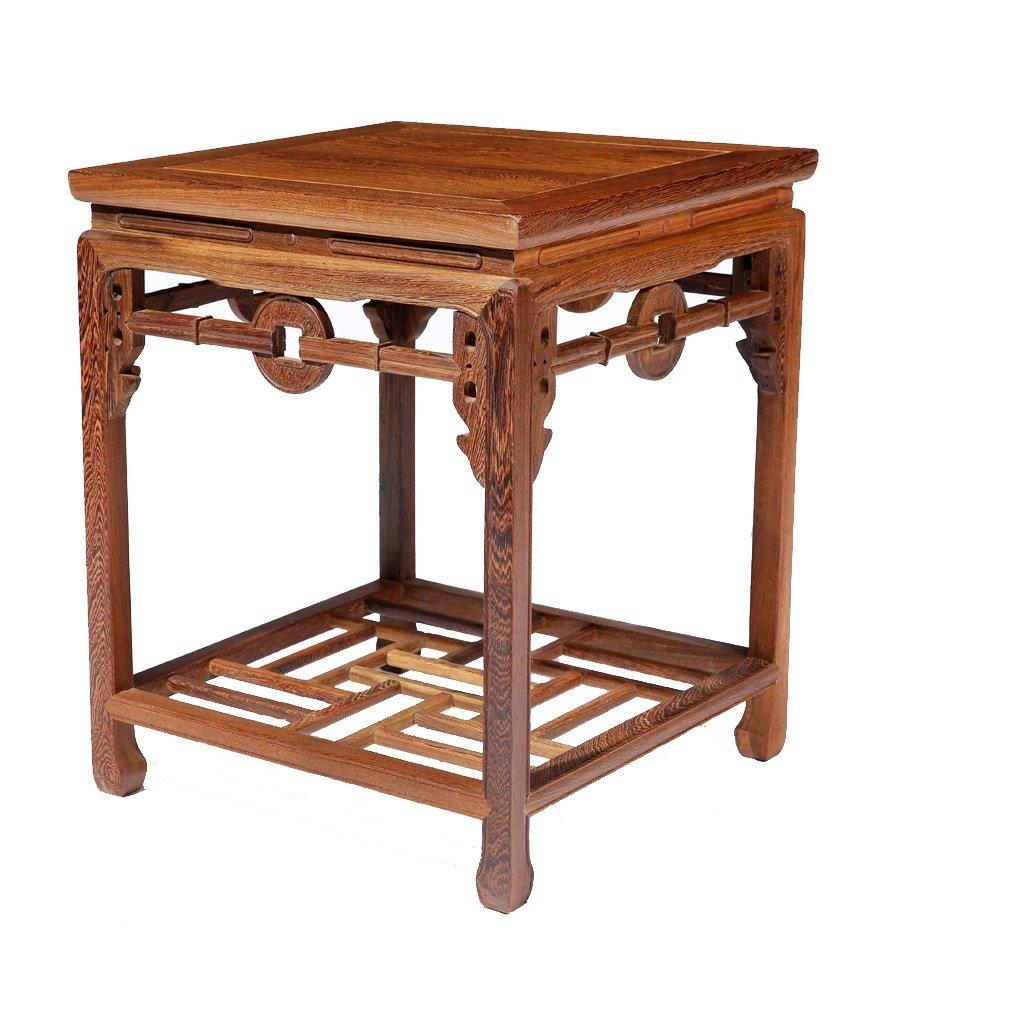 リビングルームスタディバルコニーフラワーシェルフフラワーテーブルチキンウイング木製ソリッドウッド古典的な中国の広場フラワーシェルフ B07DXQSHPN