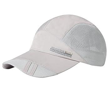huge selection of 35531 75dbb BXT Hombre Solid Béisbol Hat Cap de Malla Quickly-Dry Verano protección  Solar Pesca Camping