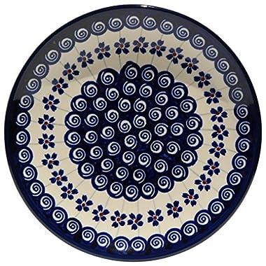 Polish Pottery Plate 7.5 Inch From Zaklady Ceramiczne Boleslawiec #Gu-814-1085 Classic Pattern, 7.5 Inch Diameter