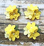 4 Mum Wool Felt Flower Trios Wool Felt Flowers - Set of 4 trios
